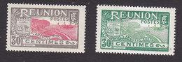 Reunion, Scott #76-77, Mint Hinged, Scenes Of Reunion, Issued 1922 - Réunion (1852-1975)