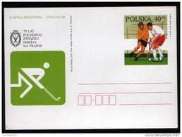 Poland Pologne, Field Hockey, Polish Field Hockey Association, 70th Anniversary , Stationery 1996.