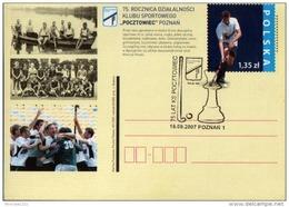 Poland Pologne, Field Hockey, Chess, 75 Years Of Sport Club Pocztowiec Poznan, Stationery And Postmark Poznan 2007.
