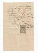 Reçu  Pour Sépulture ,  Curé De BRIGUEIL LE CHANTRE, VIENNE , 1883, Timbré , Frais Fr : 1.55 Euros - 1800 – 1899