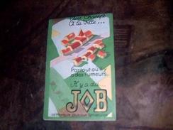 Carnet Publicitaire Non Ecrit Et Complet  Papiers A Cigarette Job - Objets Publicitaires