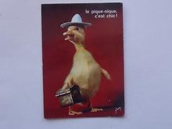 SATURNIN EN PIQUE-NIQUE Canard (TOURANE): Carte Postale Ancienne - ORTF Série Jeunesse - Le Pique-nique, C'est Chic! - Humor