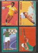 1996 Angola Olympics Swimming Gun Complete Set Of 4 MNH