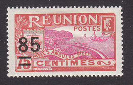 Reunion, Scott #114, Mint Hinged, Scenes Of Reunion Surcharged, Issued 1922 - Réunion (1852-1975)