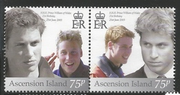 2003 Ascension Prince William Birthday Omnibus  Complete Set Of 2 MNH - Ascension (Ile De L')
