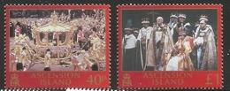 2003 Ascension QEII Coronation Anniversary Omnibus  Complete Set Of 2 MNH - Ascension (Ile De L')