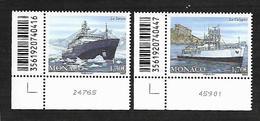 Monaco 2017 - Yv N° 3076 & 3077 - LE YERSIN Et LA CALYPSO (Mi N° 3333 & 3334) - Monaco