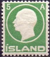 IJSLAND 1912 5aur Groen Frederik VIII PF-MNH - Neufs