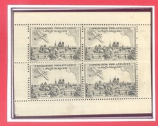 LA POSTE AERIENNE - EXPOSITION PHILATELIQUE - PARIS - 1943 - BLOC NOIR - GOMME D'ORIGINE - Filatelistische Tentoonstellingen