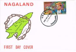 24281. Carta F.D.C. URRA (Nagaland) 1972. Conference Nixon To URSS, Stamp Kennedy - Sellos