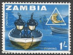 Zambia. 1964 Definitives. 1/- Used. SG 101 - Zambia (1965-...)