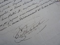 Eusèbe BACONNIERE De SALVERTE (1771-1839) Poète SOCIETE CAVEAU. Chansonnier. AUTOGRAPHE - Autographs