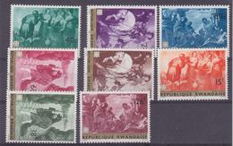 Rwanda 1967 Caritas / Paintings 8v ** Mnh (35654A) - 1962-69: Ongebruikt