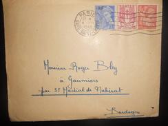 France , Lettre De Paris 1945 Pour Gaumiers - Covers & Documents