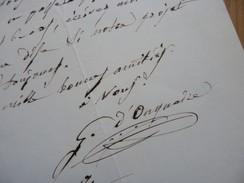 Galoppe D'ONQUAIRE (1805-1867) Librettiste. Poète. LE VESINET. AUTOGRAPHE - Autographes