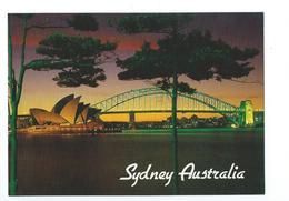 Sydney Australia The Harbour Bridge And Opera House Illuminated - Sydney
