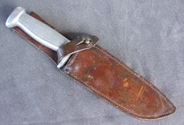 Ancien Couteau Sabatier Scout Poignard Chantier Chantiers Jeunesse CJF  Ww2 - Armes Blanches