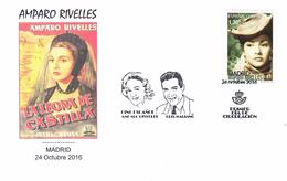 Espagne-Madrid-24/10/2016- --premier Jour Du Timbre Amparo Rivelles -avec Portraits D'Ampâro Rivelles Et Luis Mariano