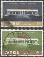 Zambia. 1967 Inauguration Of National Assembly Building. Used Complete Set. SG 120-121 - Zambia (1965-...)