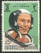 Qatar - 1969 Apollo 11 Collins 3d MH    Sc  192 - Qatar
