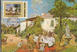 PAINTINGS, THEODOR AMAN- PARTY, CM, MAXICARD, CARTES MAXIMUM, 1982, ROMANIA - Otros