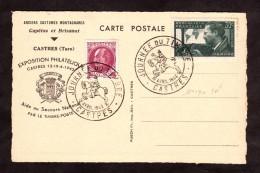 """Carte Postale """"Anciens Costumes Montagnards"""" - Journée Du Timbre 1942 - Castres - Pétain Et Mermoz  - Secours National - FDC"""
