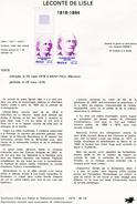 France-1978-document De La Poste-Leconte De Lisle (n°14) - Documents De La Poste