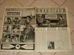 EUROPEO 1951/24=UMBERTO DI SAVOIA=CARLO GRAZIANI=PITIGRILLI=GIRARDENGO COSTANTE= - Old Paper