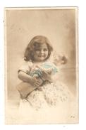CPA  Fantaisie Fillette Avec Une Poupée Colorisée 1907 - Enfants