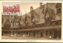 Carte Maximum -  Hôtel Dieu De Beaune - Cour D'honneur - 1940-49