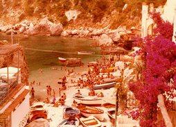 Grande Photo Couleur Originale Italie - Plage De Capri En 1976 - Crique, Baigneurs Et Barques - île De La Baie De Naples - Anonyme Personen