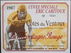 """ETIQUETTE De VIN """" CÔTES-du-VENTOUX 1987 """" - La Montagne Rouge - Appel. Contrôlée - 75cl - TB. état - Ciclismo"""