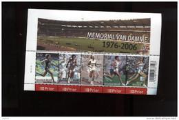 Belgie Blok Feuillet BL129 Athletics Sports Memorial Van Damme PLAATNUMMER 2  Onder Postprijs Sous Faciale !!! - Blocks & Sheetlets 1962-....