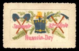 ALGERIE - HUSSEIN-DEY - SOUVENIR DU 32E GENIE - CARTE BRODEE - Autres Villes