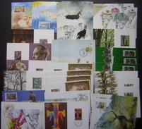 Lichtenstein: Lot De 35 Cartes Maximum Avec Multiples Des Années 80. - Cartoline Maximum