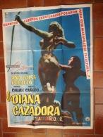 "CINEMA:  "" La Diana Cazadora"" 1957. Avec Silvia Fournier, Yolanda Diaz. Superbe Affiche érotique 68 X 92 Cm. TB - Affiches"