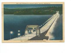 Lake Washington Pontoon Bridge Seattle 1955 - Seattle