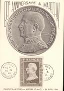 Carte Maximum - Anniversaire Du Maréchal Pétain - Cauchy-à-la-Tour Par Auchel 24 Avril 1944 - Maximum Cards