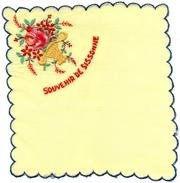 MOUCHOIR - POCHETTE  Souvenir De SISSONNE  - Motif  Brodée Panier Fleurs (2) - Mouchoirs
