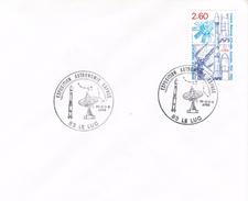 83 Le Luc-30-7/1/5 1988/Exposition Astronomie Espace -avec Timbre CNES - Marcophilie (Lettres)