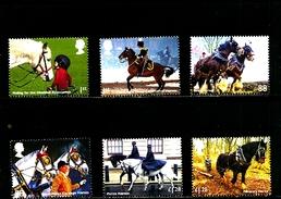GREAT BRITAIN - 2014  WORKING HORSES   SET  MINT NH - 1952-.... (Elisabetta II)