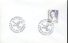 21616 Italia, Special Postmark 2001 Molfetta Woman Rink Roller Hockey, European Champ.