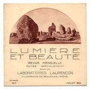 Lumière Et Beauté N°7 Auray - Sainte-Anne D'Auray - Locmariaquer - Une Ferme à Ste-Avoye De 1933 - 1900 - 1949