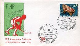 21621 Italia, Special Postmark Roma 1972 Assembly Of The F.I.H.P. ASSOCIATION  Roller Hockey  Rink Hockey