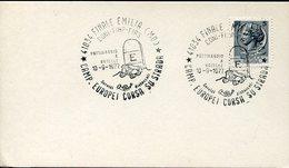 21622 Italia, Special Postmark Finale Emilia 1977 European Roller Skating Ptins A Rouletter,