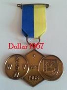 Medaille :Netherlands  -  K.W.S.W 7-9-1963 - Waalwijk - Walking Association . - Netherland