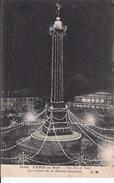 Cp , 75 , PARIS , Une Fête De Nuit , La Colonne De La Bastille Illuminée - Paris By Night
