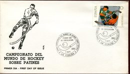 21626 Spain, Special Cover And Postmark1988 La Coruna World Roller Rink Hockey Champ. (fdc)