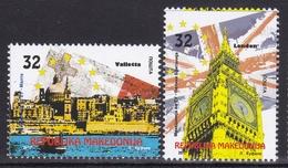 Macedonia 2017 In European Union, EU, La Valletta, Malta, London, United Kingdom, Big Ben, Set MNH - European Ideas