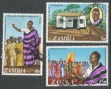 Zambia. 1974 50th Birthday Of President Kanuda. Used Complete Set. SG 181-184 - Zambia (1965-...)